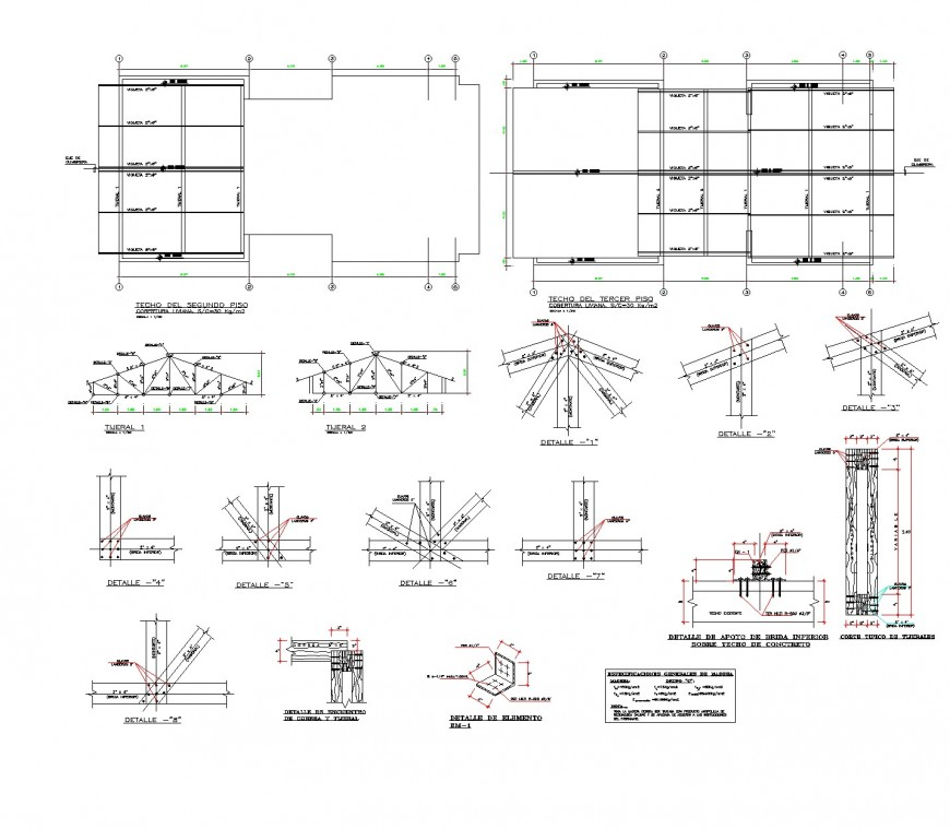 Corporate building structural development dwg file