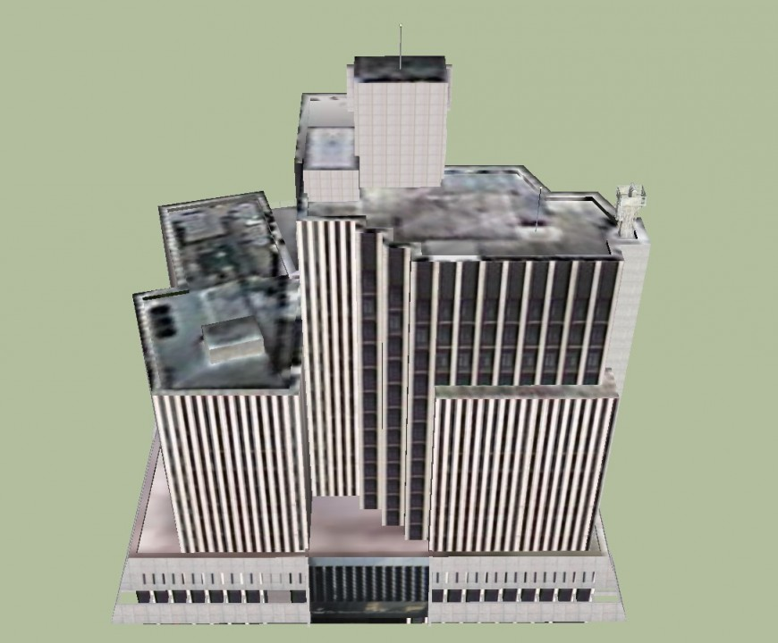 Corporate building view in software file