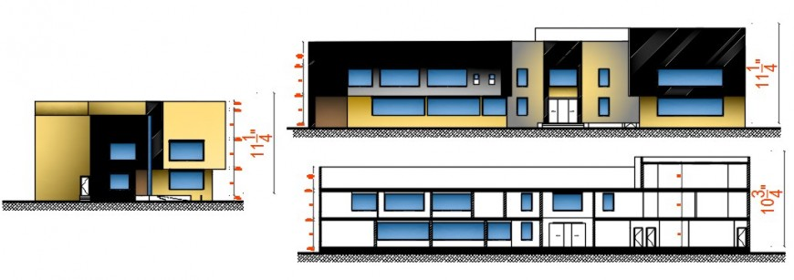 corporate elevation design cad file