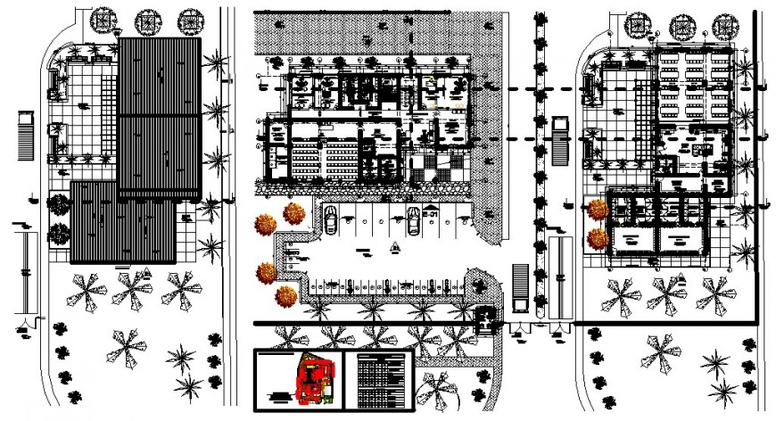 corporate office building floor detail autocad file