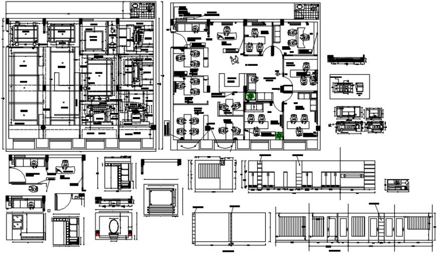 Corporate office design project detail autocad file