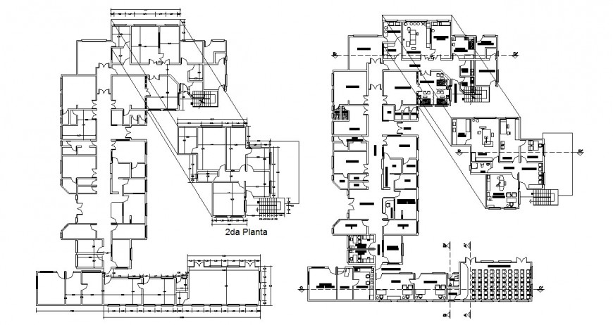 Corporate office floor plan and framing plan cad drawing details dwg file