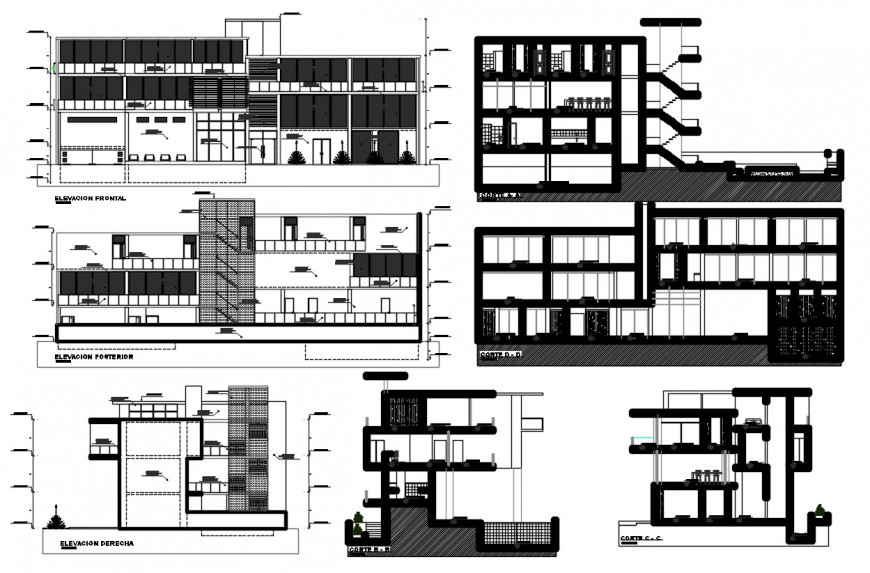 corporate office project detail cad file