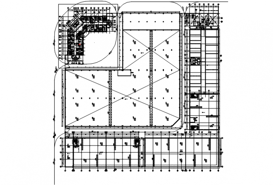 Corporate office project layout plan autocad file