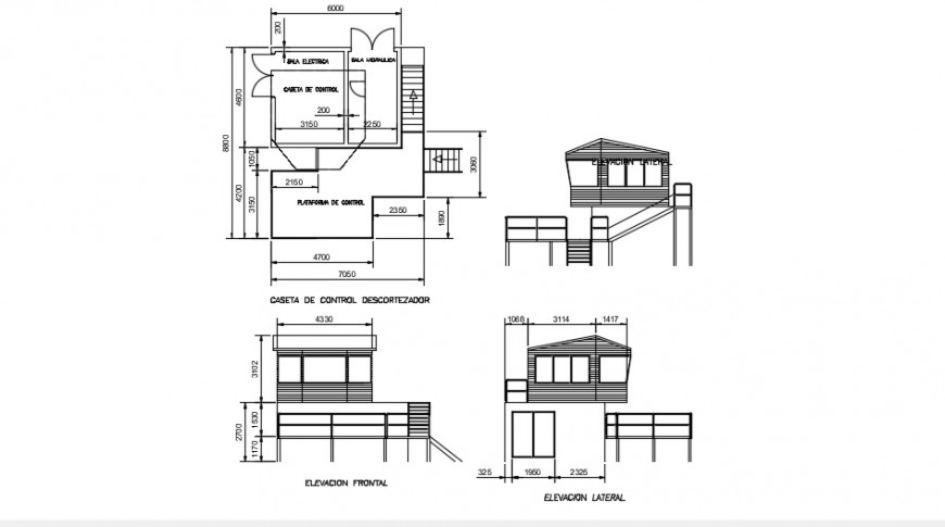Cottage house two level elevations and plan drawing details dwg file