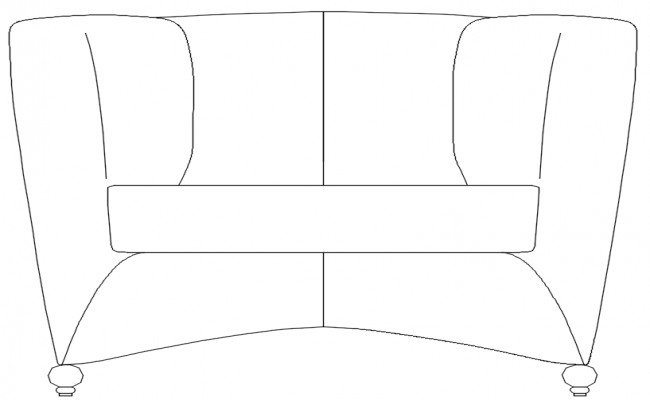 couch design dwg file