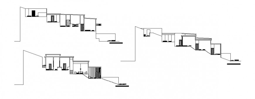 Country house folded elevation detail drawing in dwg AutoCAD file.