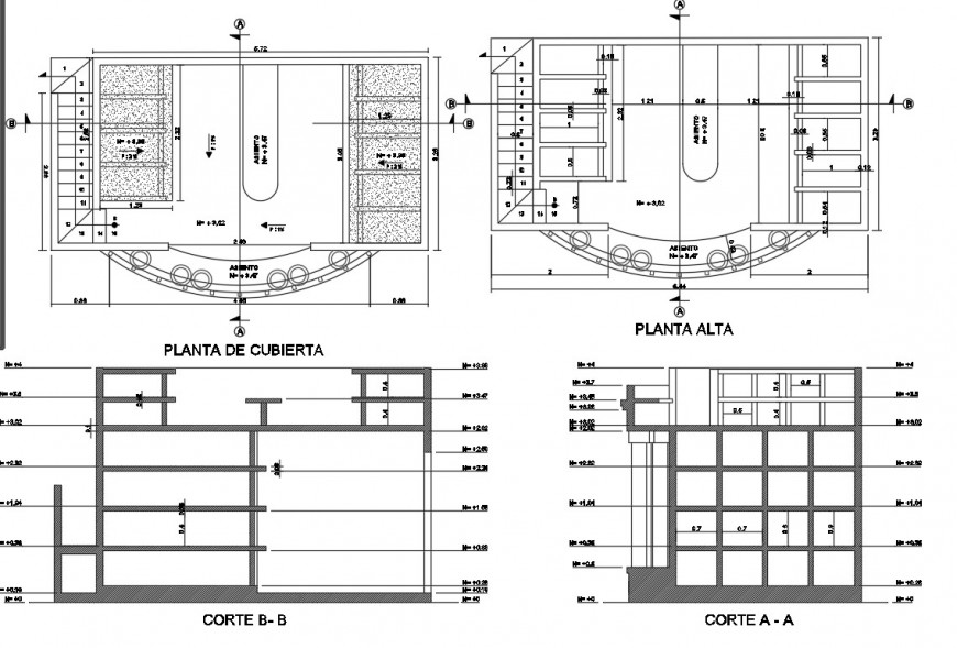 Cover plan and section