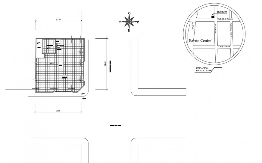 Cover plan and site plan details of residential house dwg file