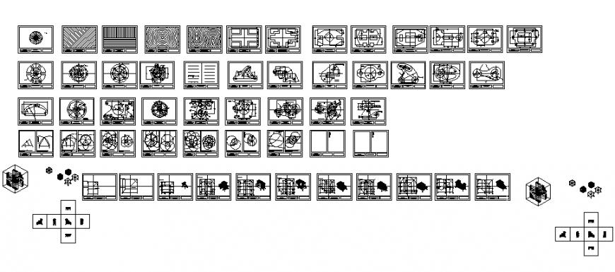 Creative beginner exercise details for geometric shapes dwg file