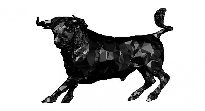 Creative bulldog 3d elevation block cad drawing details dwg file