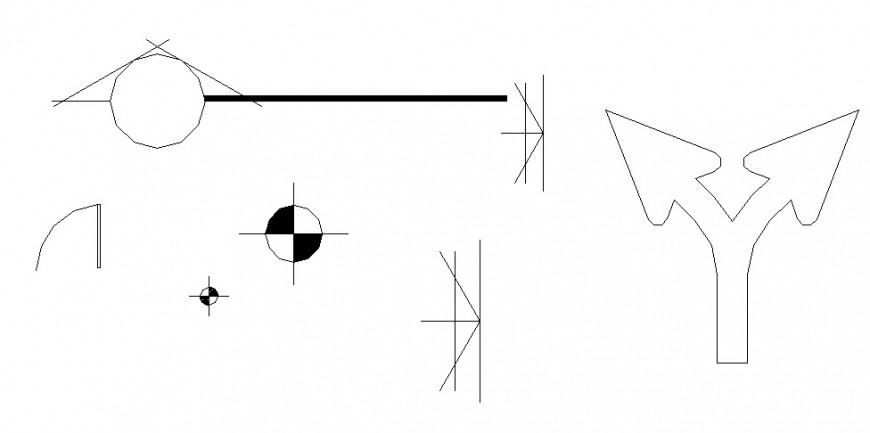 Creative common direction block drawing details dwg file