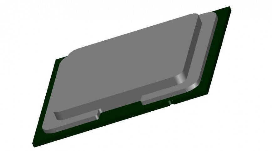 Creative computer cpu 3d model cad drawing details dwg file