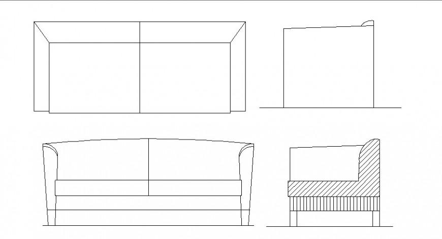 Creative drawing room sofa sec block cad drawing details dwg file