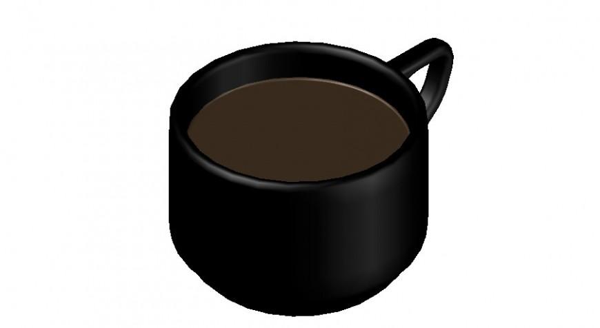 Creative kitchen tea cup 3d block cad drawing details max file