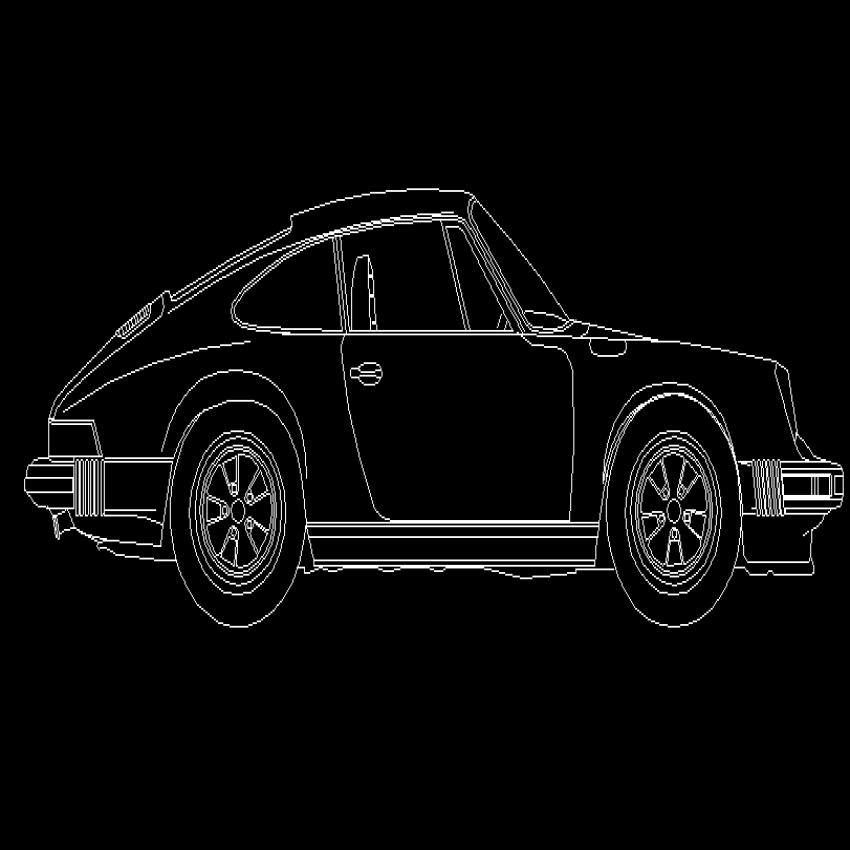 Creative luxury suv car cad block design dwg file