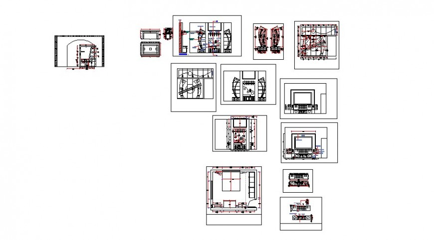 Creative multiple ceiling plans cad drawing details dwg file