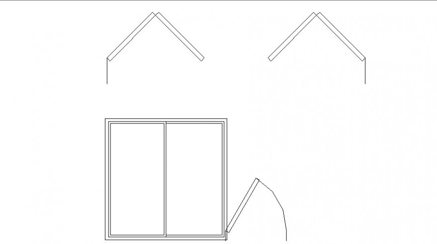 Creative single and double window blocks cad drawing details dwg file