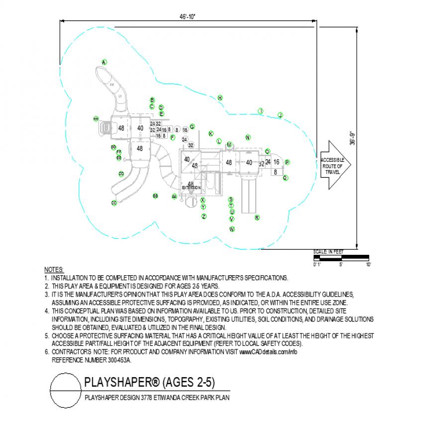 Creek park plan layout file