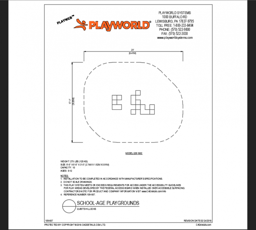 Cubit hillocks play area play equipment details of themed park dwg file