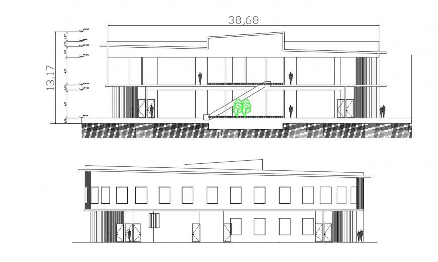 Cultural center  elevation autocad software