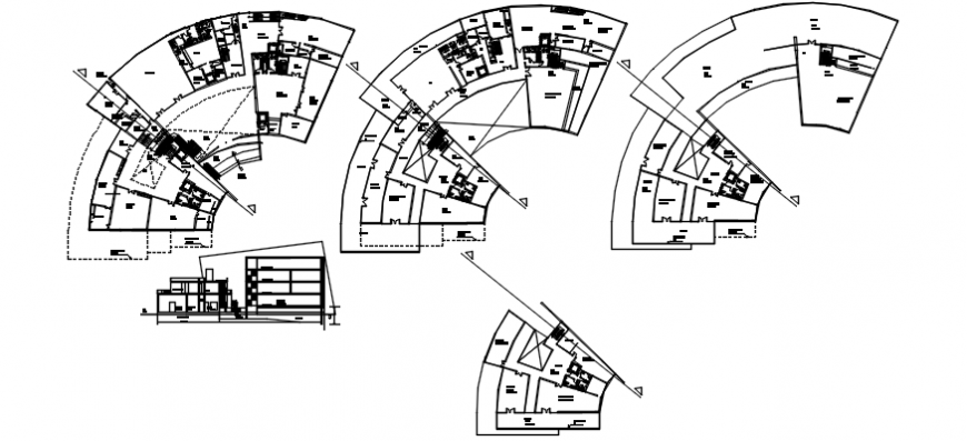 Cultural Centre plan and elevation in AutoCAD file