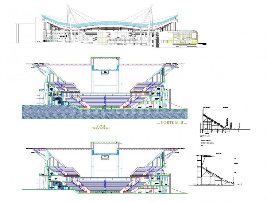 Cutaway stair plan detail