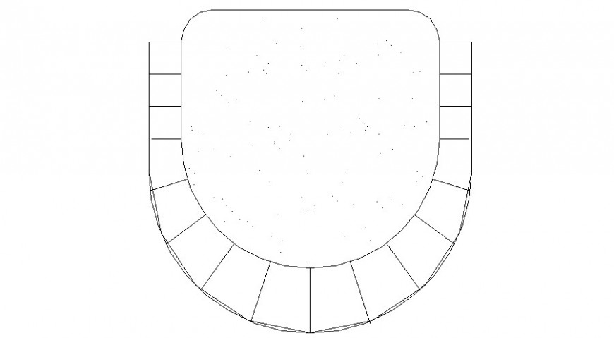 Cute chair top view elevation 2d block cad drawing details dwg file