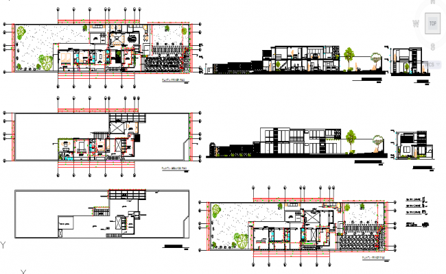Residential House Design in Autocad file