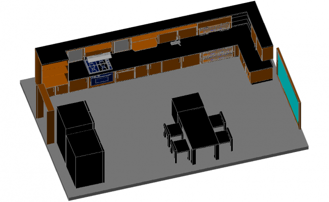 Modern 3D Kitchen Project