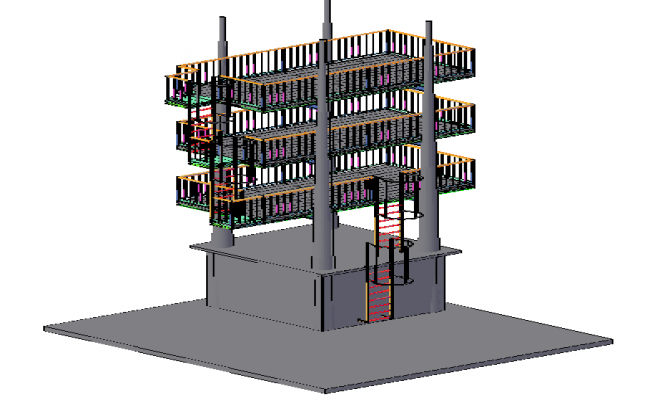 3d Tower For design in Fire Fighters