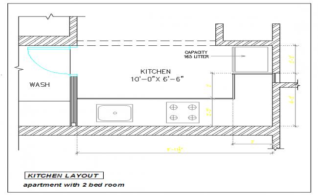 2D Kitchen Detail