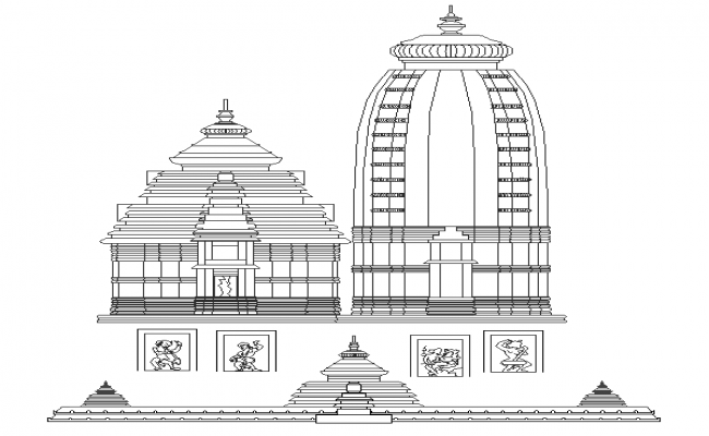 Temple Elevation Design