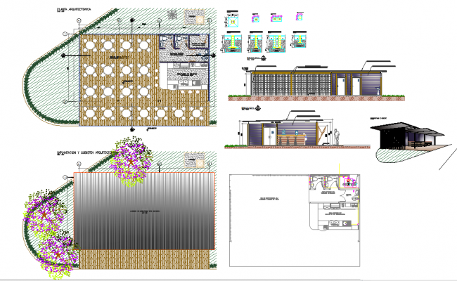 Modern Restaurant detail plan