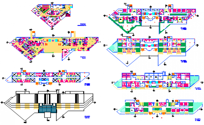 Architectural Hospital design drawing