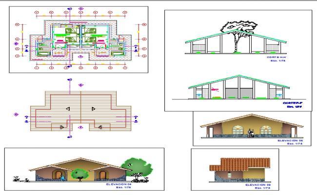 Modern Bungalows detail plan