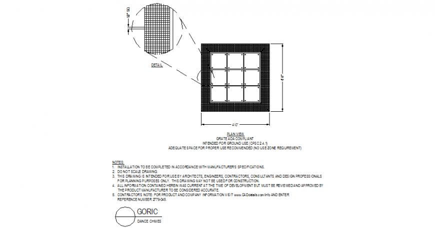 Dance chimes detail plan layout file