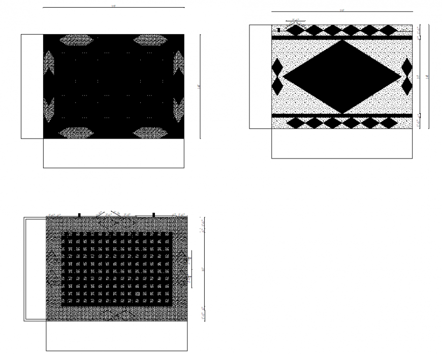 Dark and light patterns ceiling design detail dwg file