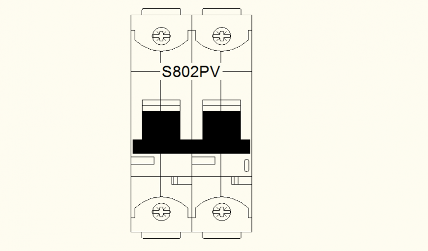 DC Switch detail elevation dwg file