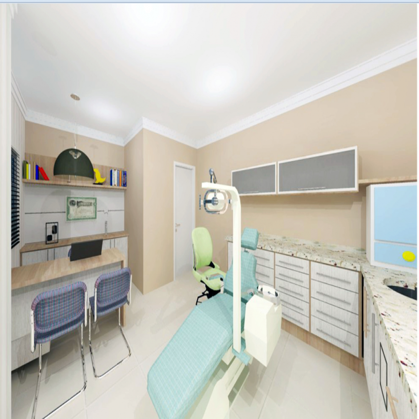 Dental clinic 3d interior and furniture details dwg file