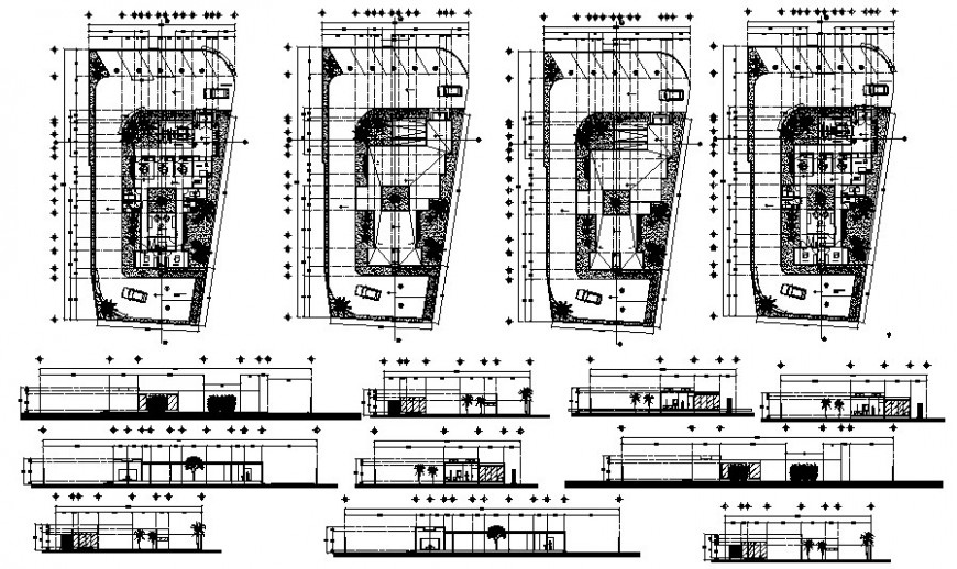 Dental clinic details work plan elevation and section autocad file