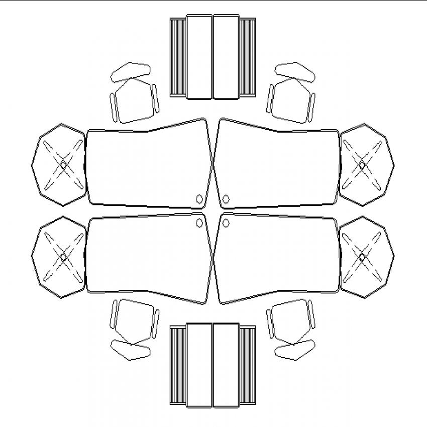 Dental clinic furniture cad blocks design top view dwg file