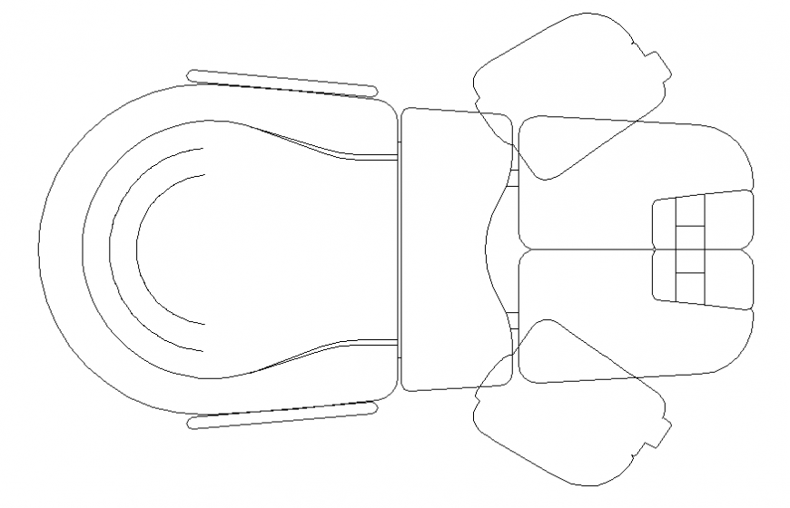 Dental clinic furniture top view cad block details dwg file