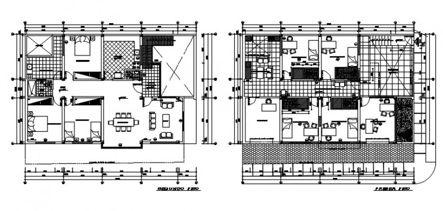 Dental clinic with attached house floor plan distribution drawing details dwg file