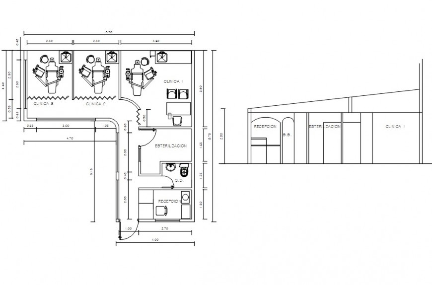 dentist clinic cad file