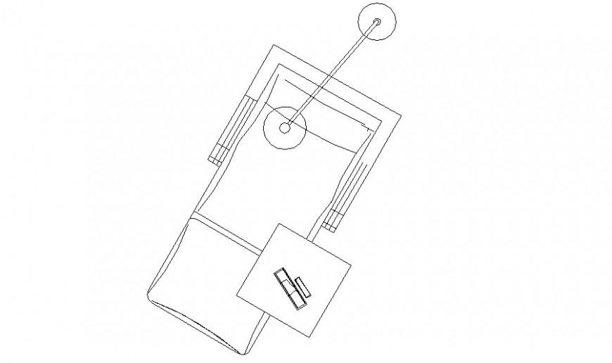 Dentist desk chair 2d elevation block cad drawing details dwg file