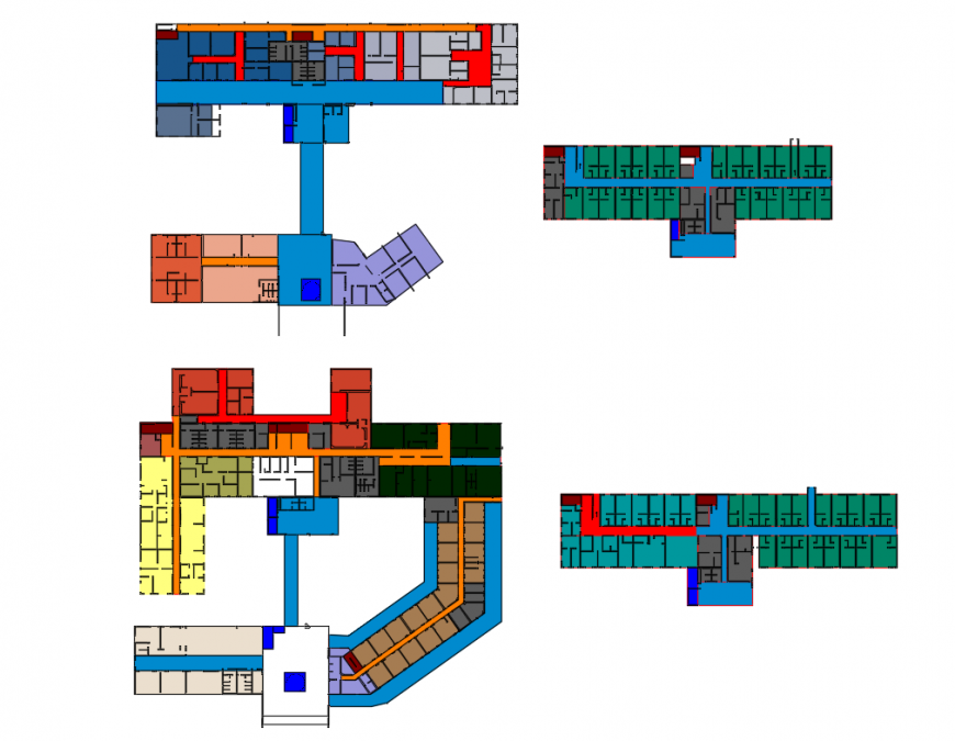 Departmental area layout plan and general layout plan details of maternity hospital dwg file