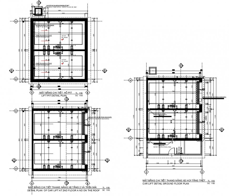 Design of car lift drawing in autocad