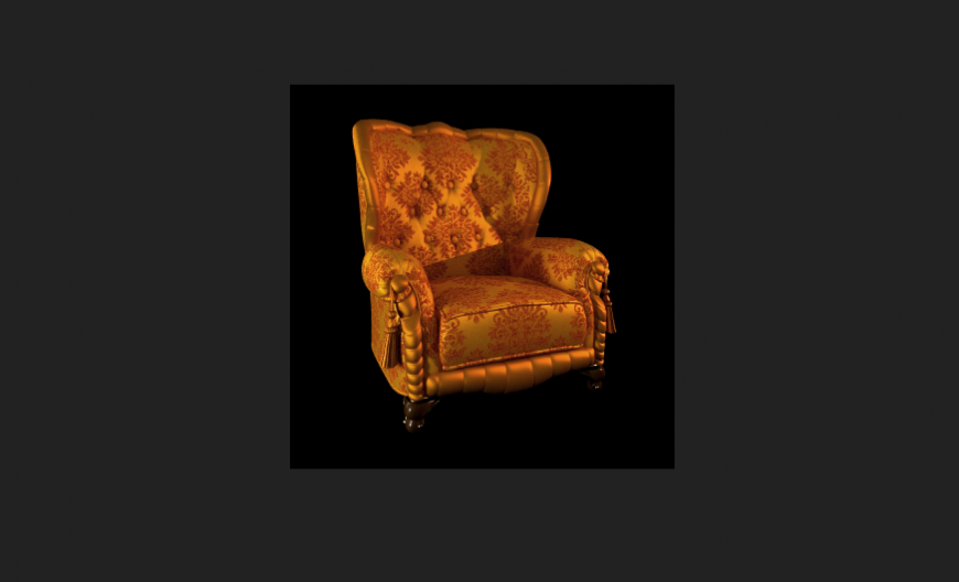 Designer furniture of chair with JPEG file