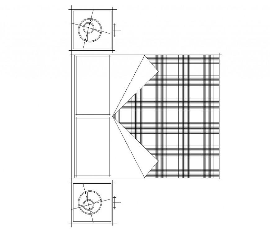 Detail 2d model of bedroom furniture block layout file in autocad format
